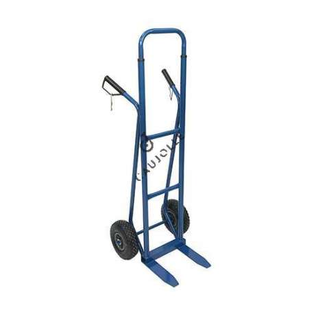 Adjustable trolley with fixed platform and 2 inflated 260 mm diameter wheels.