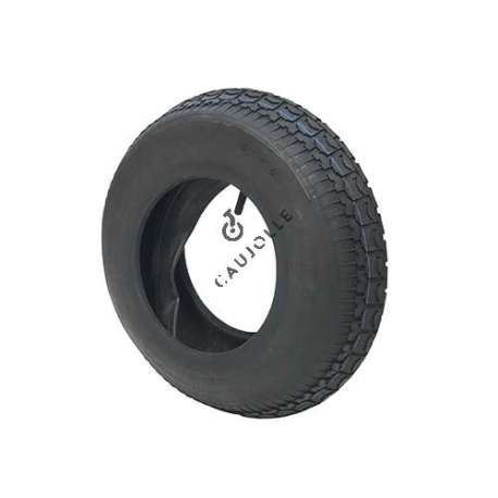 Set 400 mm diameter reinforced tyre with 8-inch rim and air chamber in rubber.