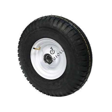 Sheet metal mobile home wheel rim with cover