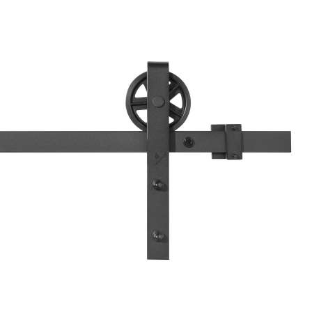 Complete black kit with visible wheel for sliding door