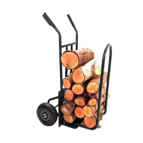 Log trolley with 2 inflated wheels, 260 mm diameter.