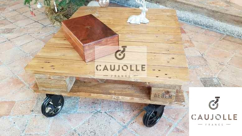 fabriquer sa table basse palette rtro - Table Basse Palette Roulettes